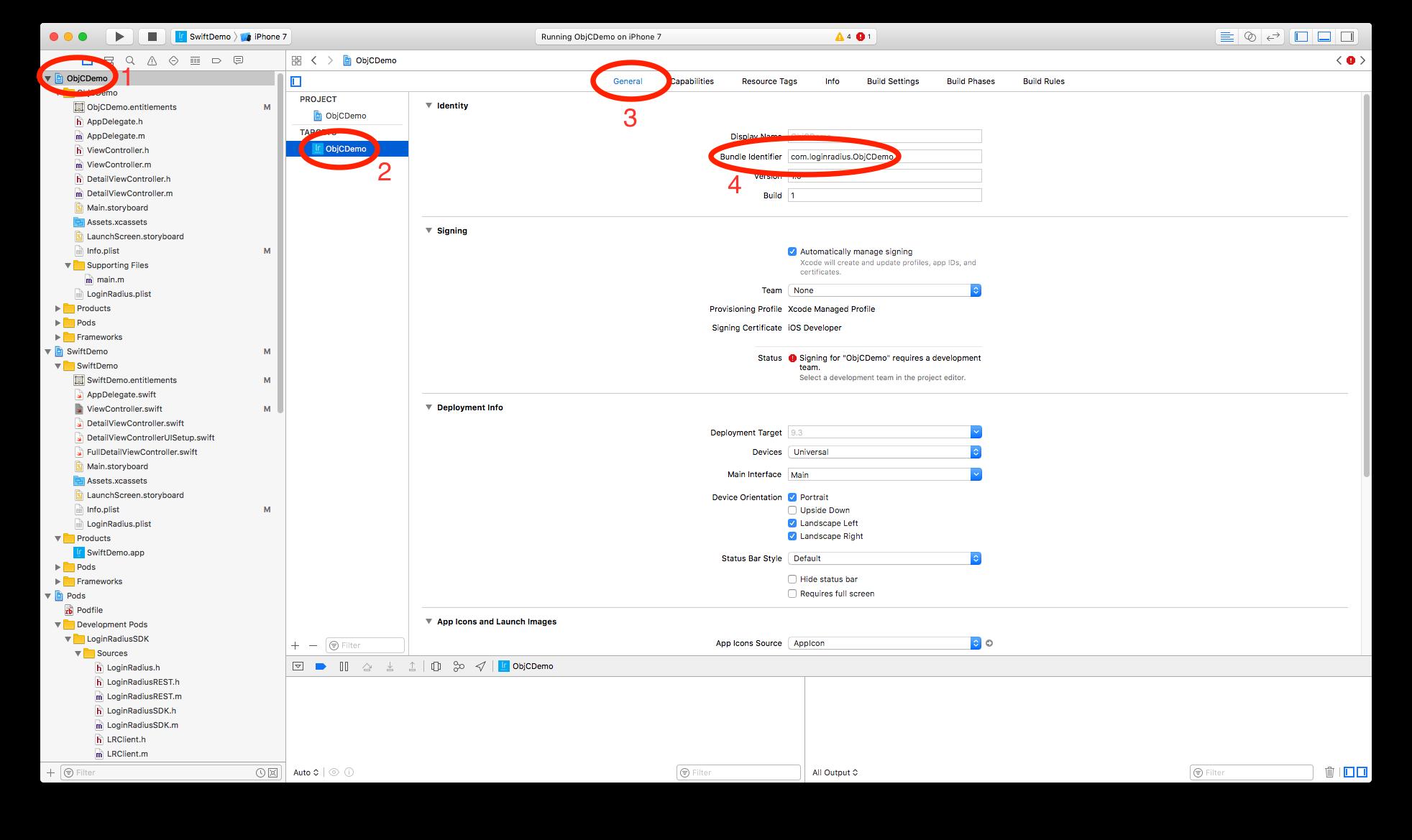 How to get bundle identifier in xcode